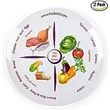 Paquete de 2 platos de dieta con control de porción dividido