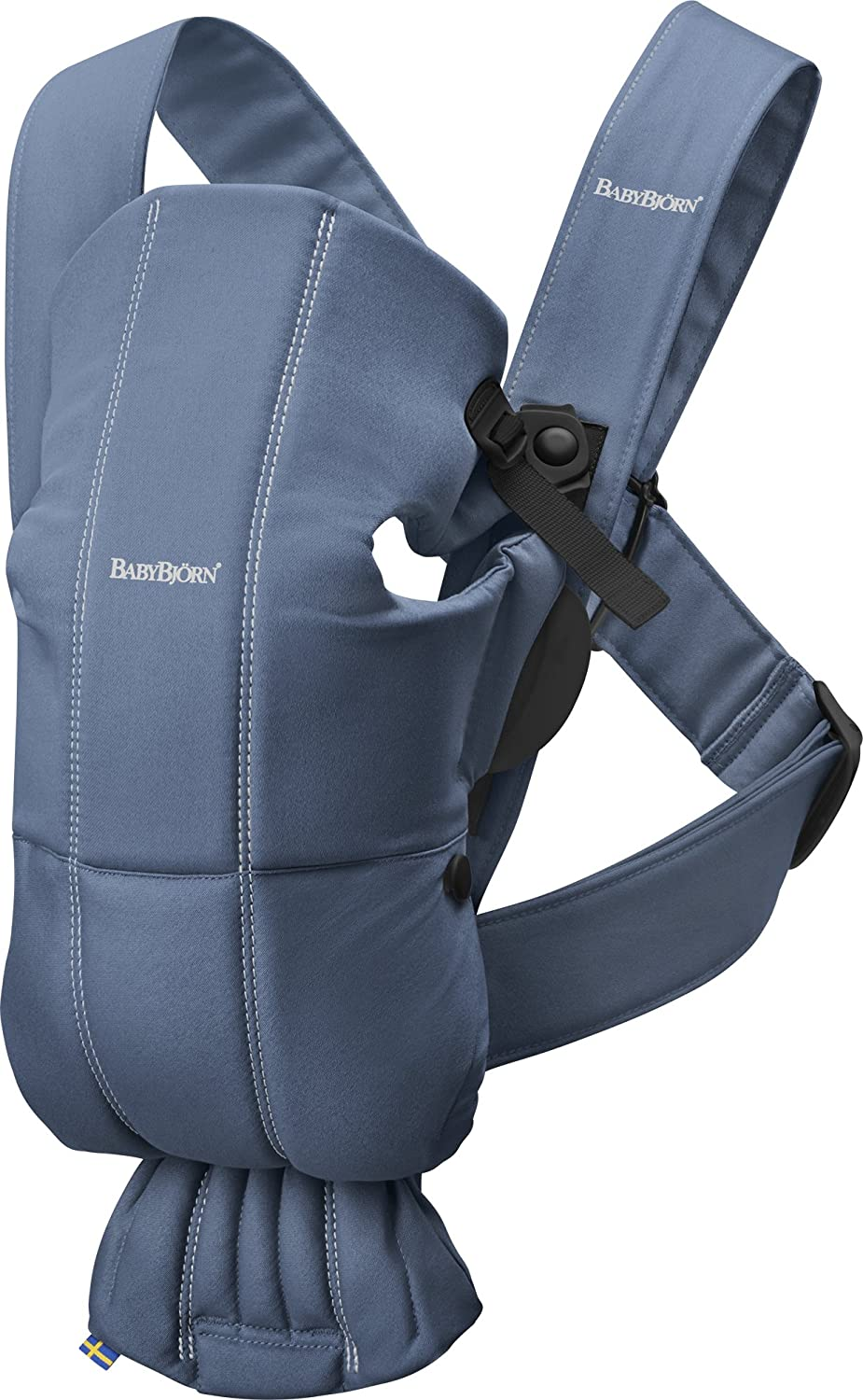 BABYBJORN Baby Carrier Mini in Cotton, Black Inc. 021056US