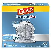 204-Count Glad ForceFlex Tall Kitchen Odor Shield Drawstring Trash Bags