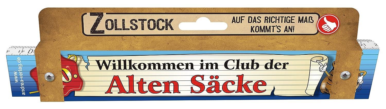 Zollstock Für Männer Alte Säcke 50 Spezialzollstock Willkommen Im Club Der Alten  Säcke Zum 50. Geburtstag 30091: Amazon.de: Baumarkt