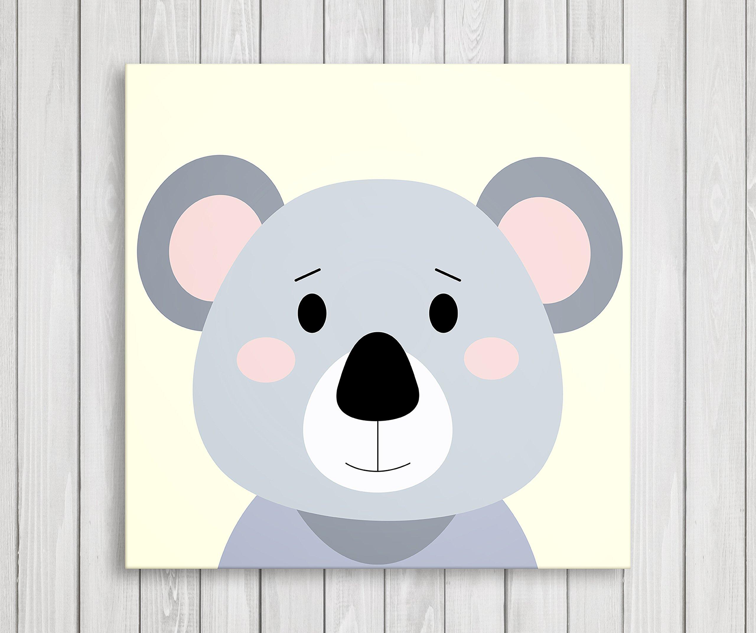 Nursery Prints Cute Koala Baby Wall Decor Animals Kids Room Pictures
