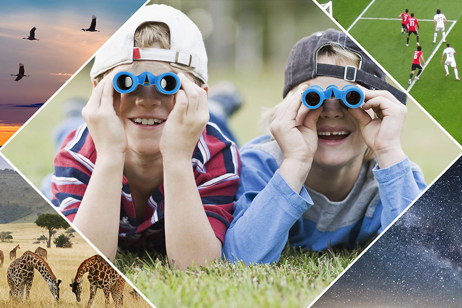 Outdoor Gifts//Toys for Boys /& Girls Hiking Sirkaya Kids Binoculars High Resolution 8x21 with 3in1 Educational Kit /& Upgraded Breakaway Strap Scout Exploring Top in Bird Watching Camping Hunting