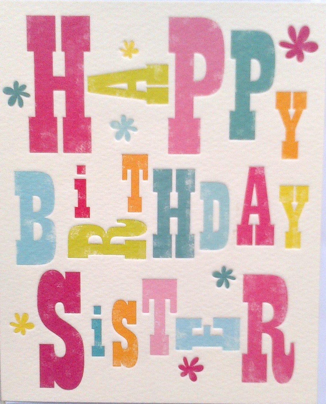 Feliz cumpleaños hermana: Amazon.es: Hogar