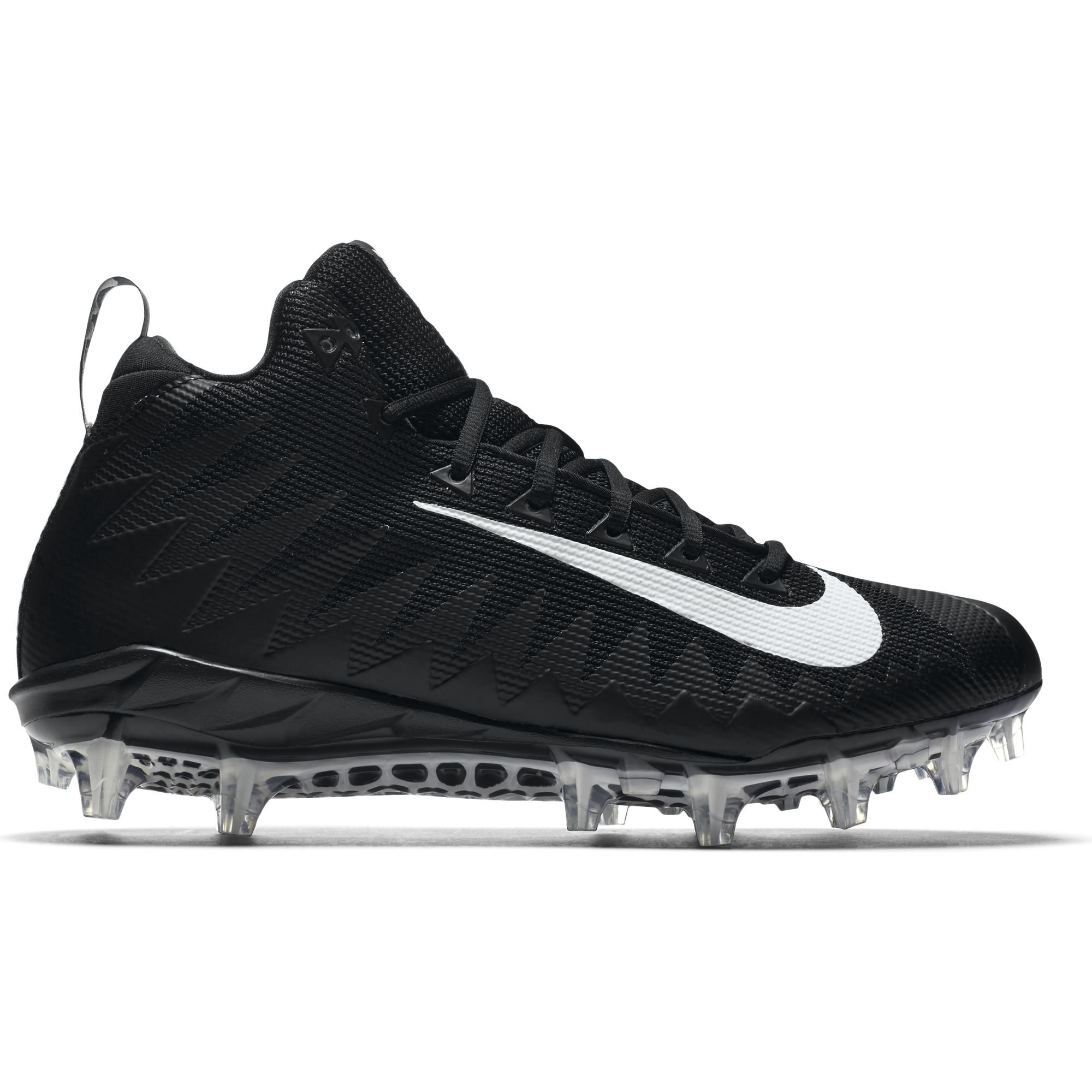 NIKE Men's Alpha Menace Pro Mid Football Cleat Black/White Size 11.5 M US by NIKE