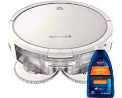 Bissell SpinWave Hard Floor Expert Pet Robot, 2-in-1 Wet Mop and Dry Robot Vacuum, WiFi Connected with Structured Navigation,