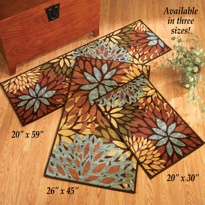 Floral Cleopatra Accent Rug from Collections Etc.
