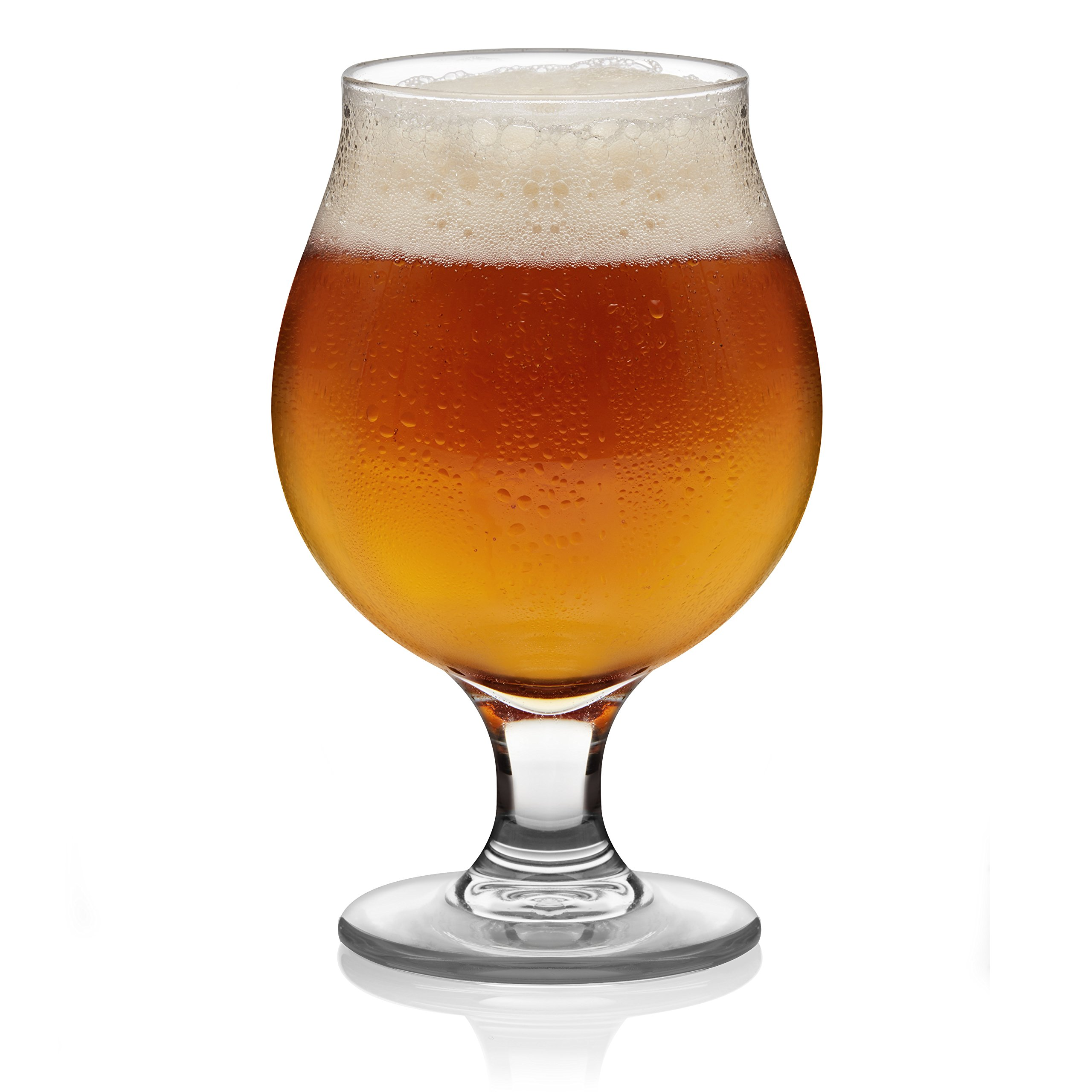Libbey Craft Brews Belgian Ale Beer Glass, 16-ounce, Set of 4 by Libbey (Image #1)