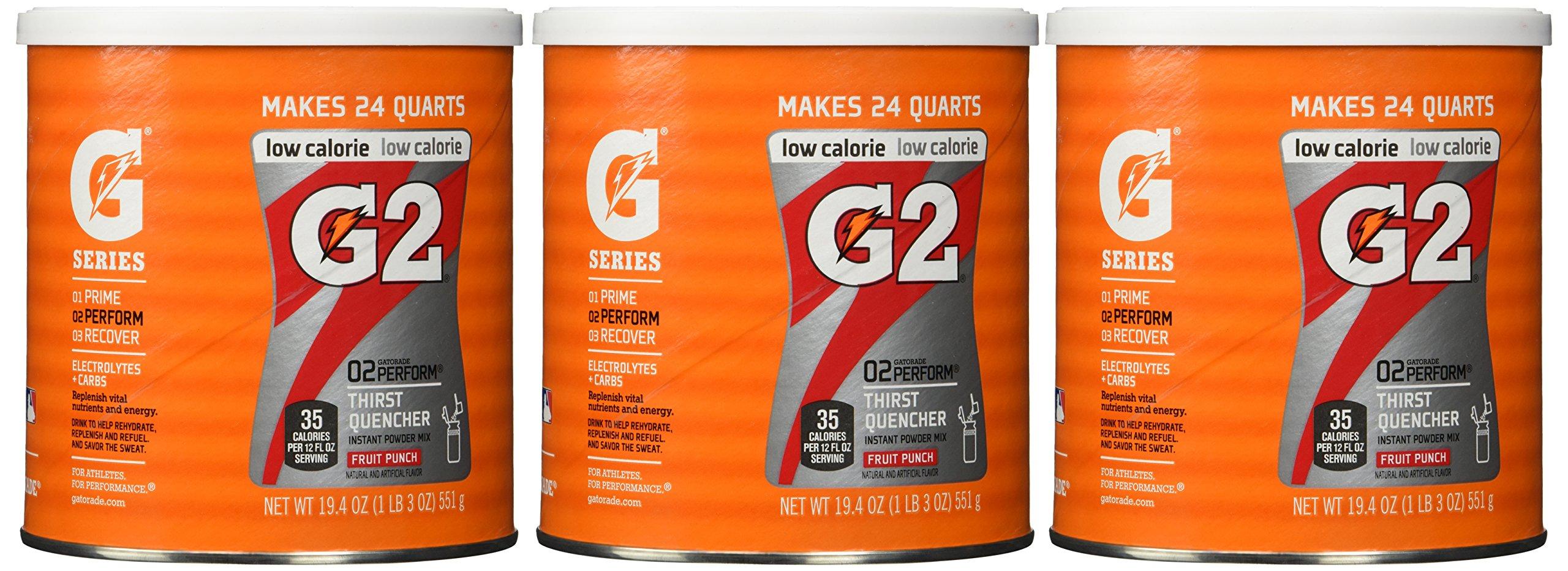 Gatorade Perform G2 02 Perform Thirst Quencher Instant Powder Fruit Punch Dri.. 10