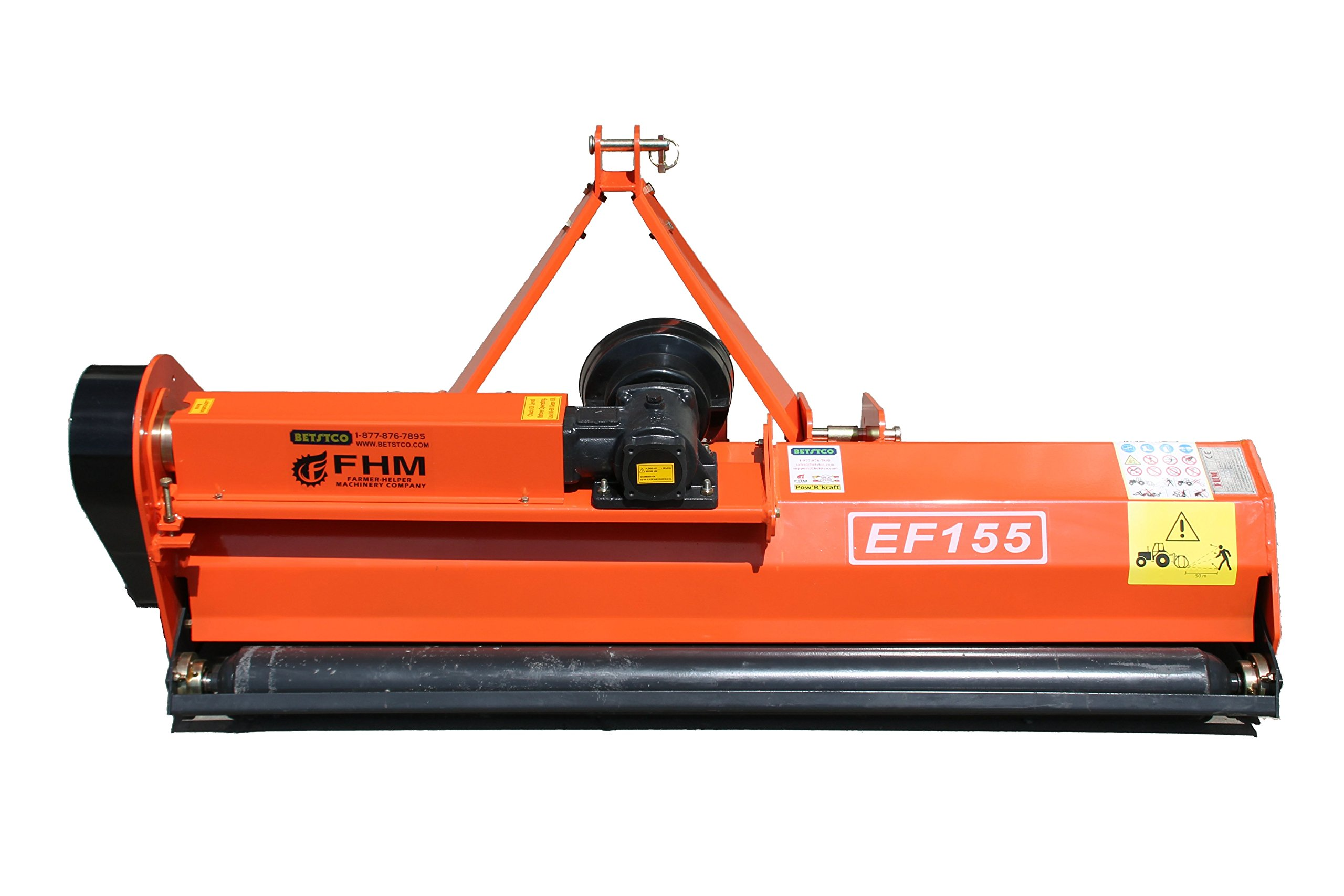 Farmer Helper 60'' Flail Mower Cat.I 3pt 20HP+ Rating (FH-EF155) Requires a Tractor. Not a standalone Unit.