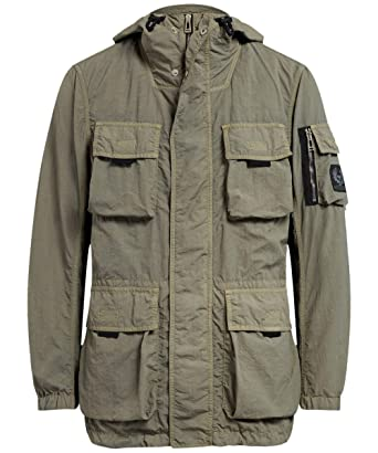 Belstaff Mens Double Layered Pallington Jacket Green US 40