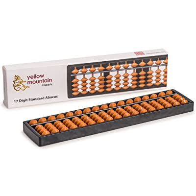 Classic Abacus, Soroban Calculator, 10.5 Inches, 17 Column