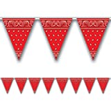 Bandana Pennant Banner Party Accessory (1 count) (1/Pkg) by Beistle