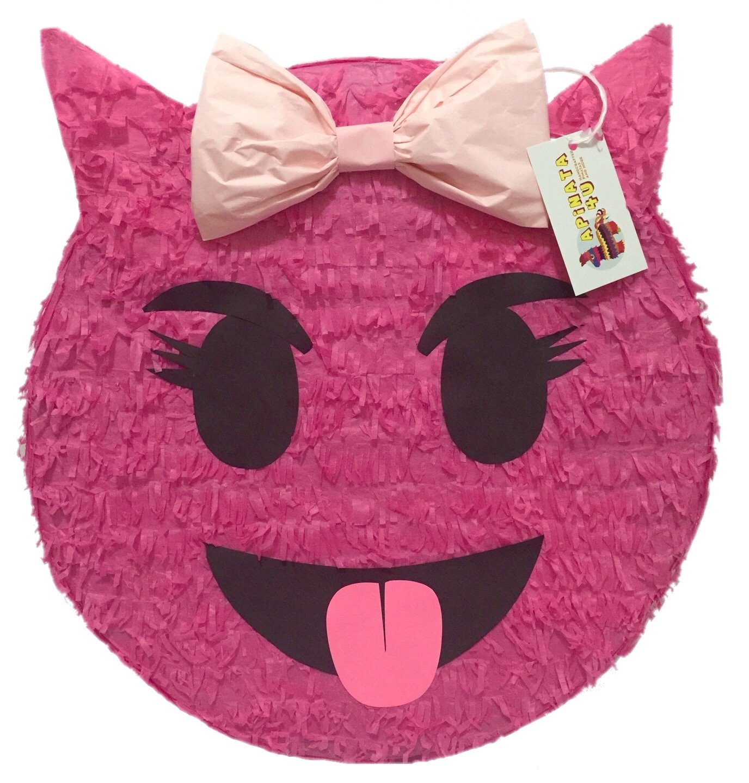 Pink Sneaky Emoji Pinata