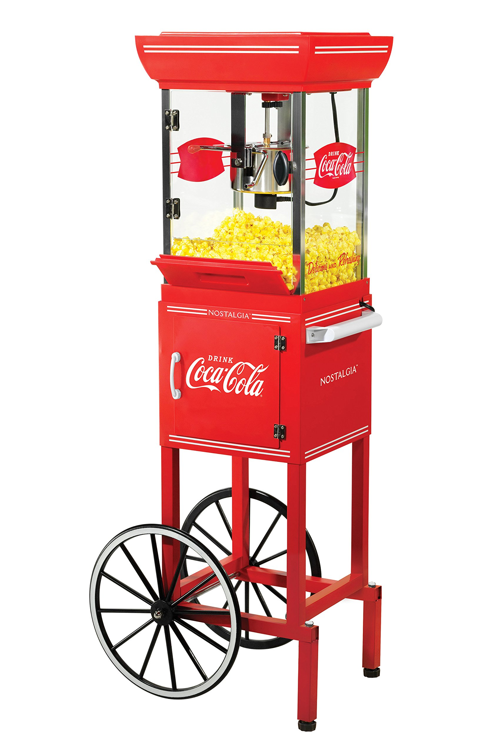 Nostalgia CCP399COKE Coca-Cola 2.5-Ounce Popcorn Cart - 48 Inches Tall by NOSTALGIA