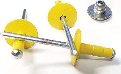 Racers Speed Shop Yellow 3//16 Rivet Small Head Multi Grip Aluminum Steel Mandrel Pop Rivets 50 Pack
