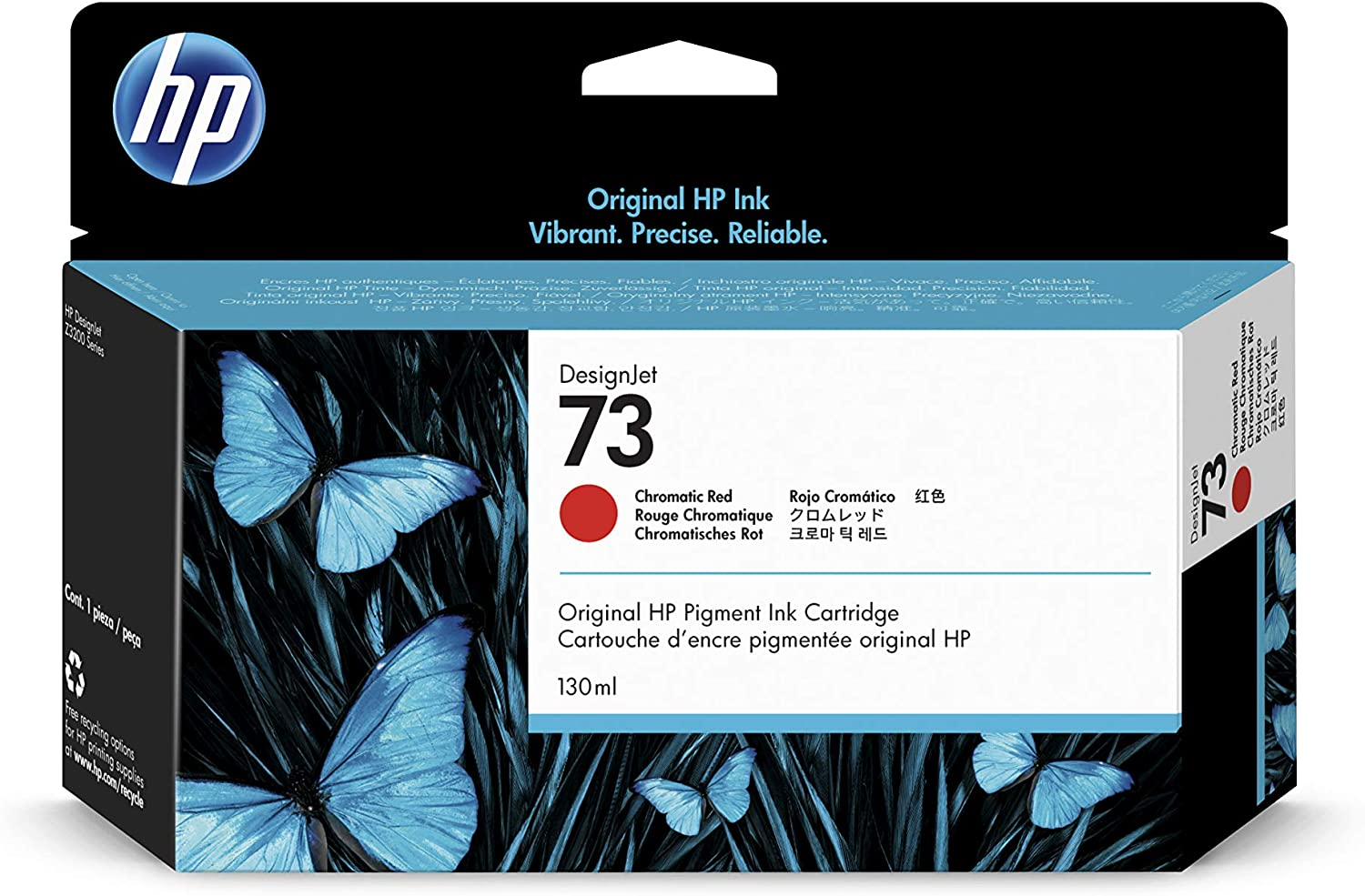 HP 73 Chromatic Red 130-ml Genuine Ink Cartridge (CD951A) for DesignJet Z3200 Large Format Printers