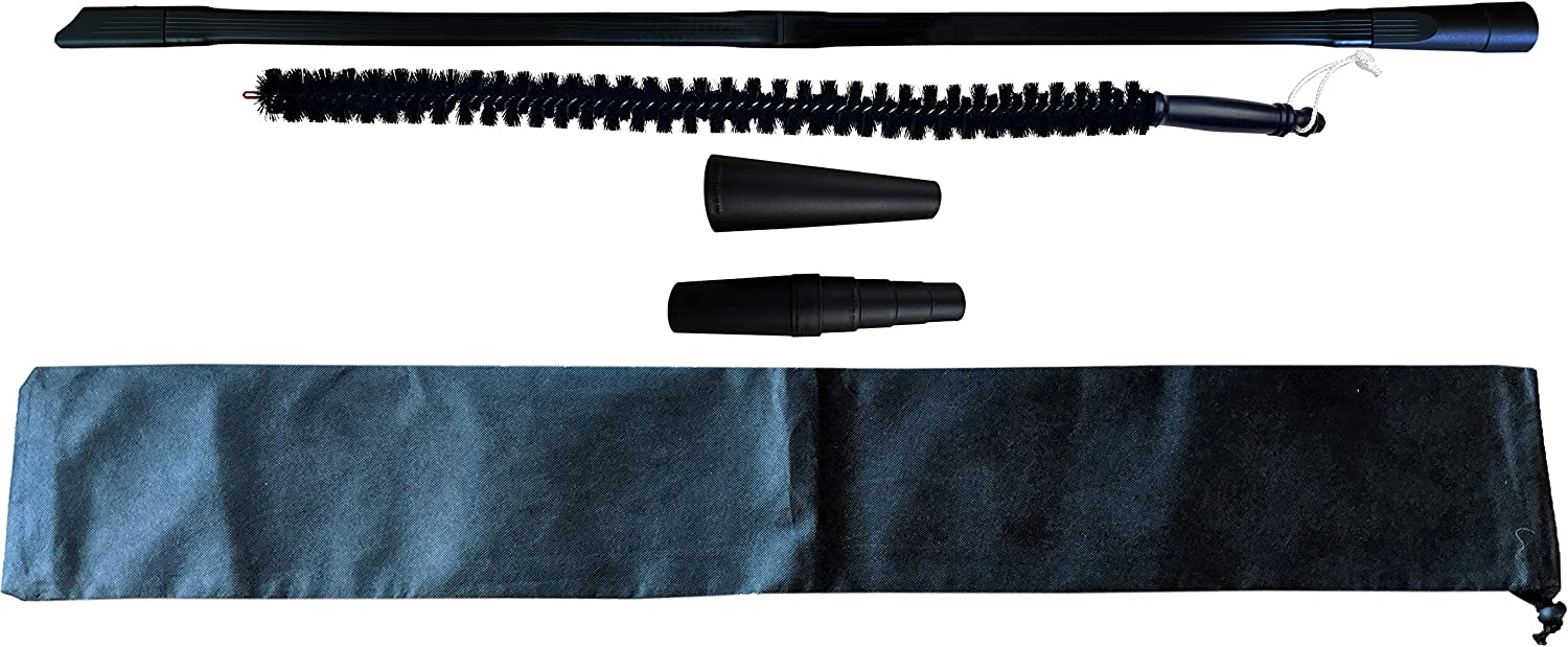TDVS Dryer Lint Vacuum Attachment - Extra Long 40 in Crevice Tool - 3 Vacuum Hose Adapters 30 in Refrigerator Coil Brush - Storage Bag Included
