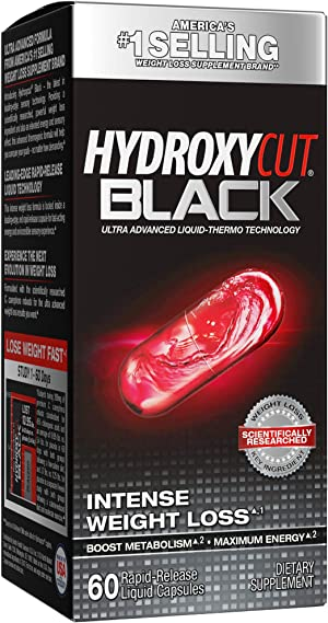 Weight Loss Pills for Women & Men   Hydroxycut Black   Weight Loss Supplement Pills   Energy Pills to Lose Weight   Metabolism Booster for Weight Loss   Weightloss & Energy Supplements   60 Pills