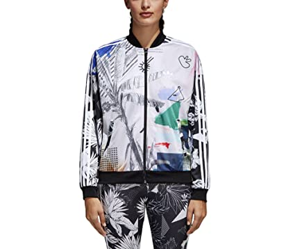 353eb0e65982 adidas Originals Women s Oversized Passinho Track Jacket Multicolor Small