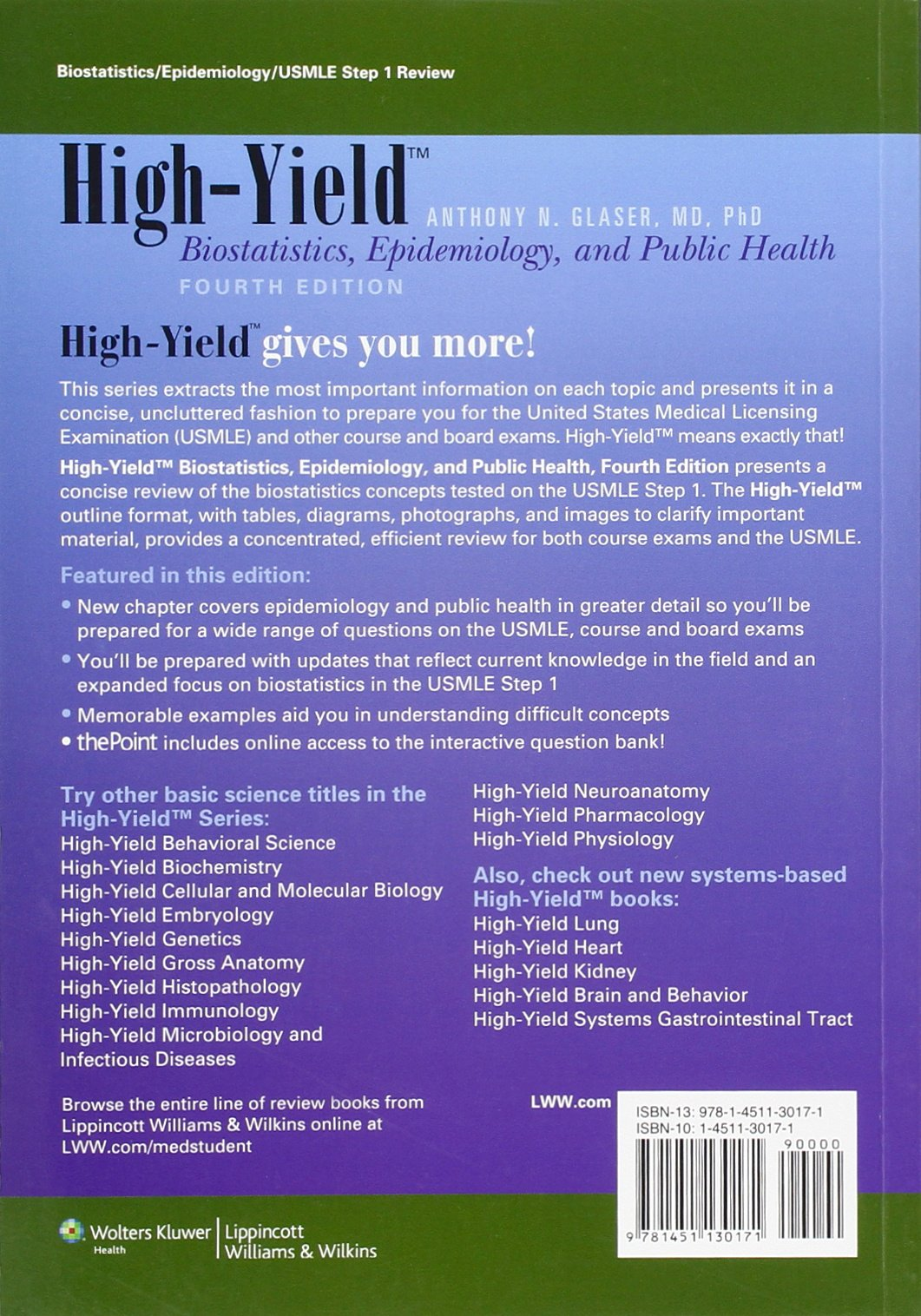 High-Yield Biostatistics, Epidemiology, and Public Health High-yield Series:  Amazon.co.uk: Anthony N. Glaser: Books