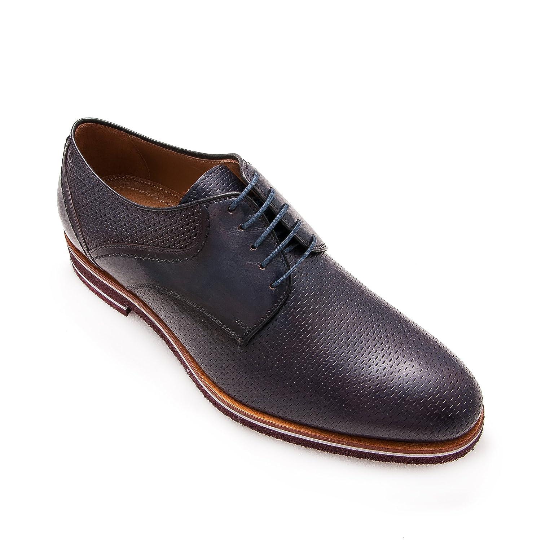 Zerimar Lederschuh Schuhe fuuml;r Herren Schuhe Elegant Herren Lederschuhe Casual Echter Leder Schuh fuuml;r Mann Bequeme Schuhe Man  44 EU|Marineblau