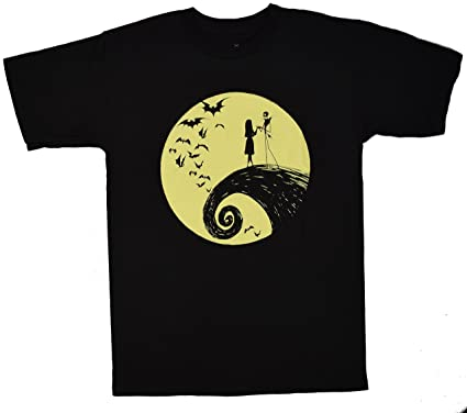 Disney Nightmare before Christmas Jack Sally Romantic Moon T-shirt ...