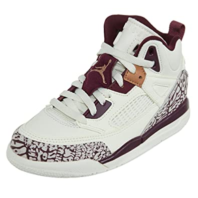 online store b1652 252e9 Jordan Spizike GP Preschool Basketball Shoes Sail Bordeaux Metallic Red  Bronze 535708-132