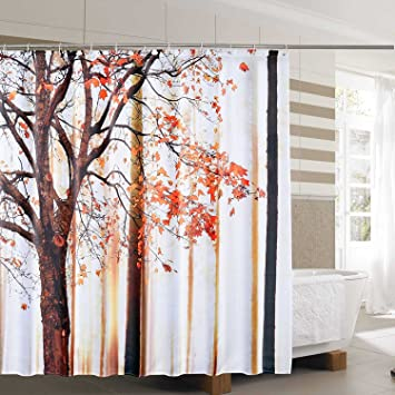 Amazon Holoware Mildew Resistant Fabric Shower Curtain Anti