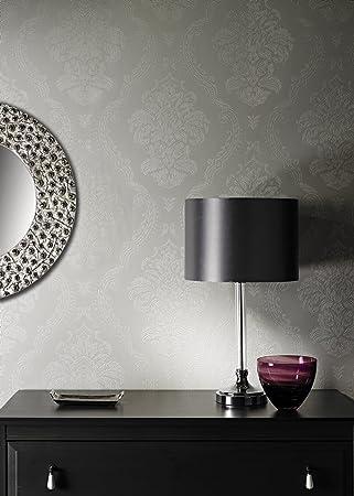 GroBartig LUXUS Vinyl Tapete Im Barock Damast Design | Luxuriös Und Sehr Edel In Grau
