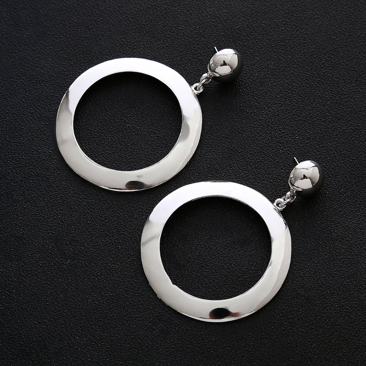 CHOA Big Hoops Earrings-Fashion Simple Earrings for Ladies and Cool Girls