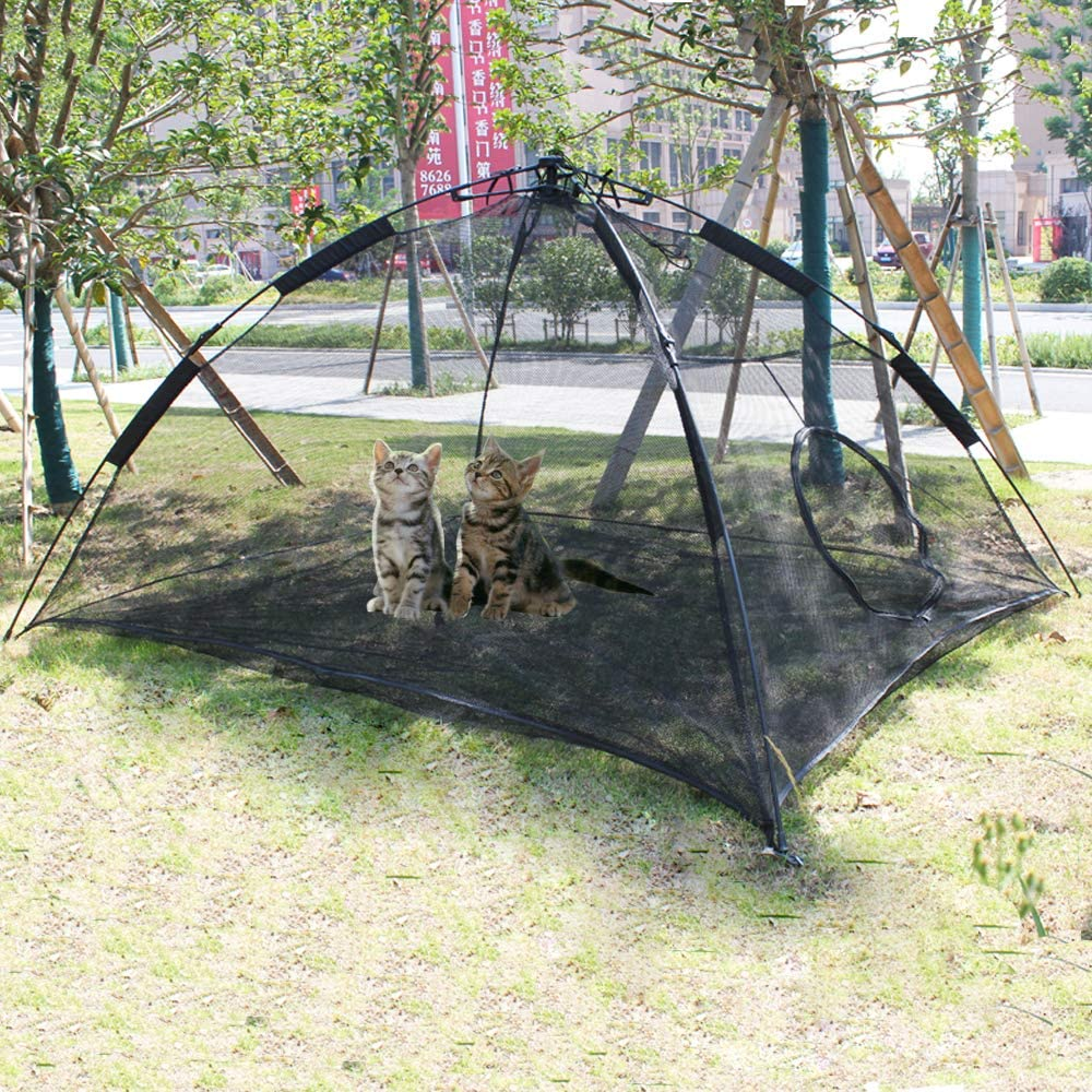 Hi Suyi Portable Large Pop Up Pet Cat Tents Enclosures for Outside Patio