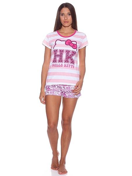 Licencias Pijama Corto Mujer Rosa Único XL