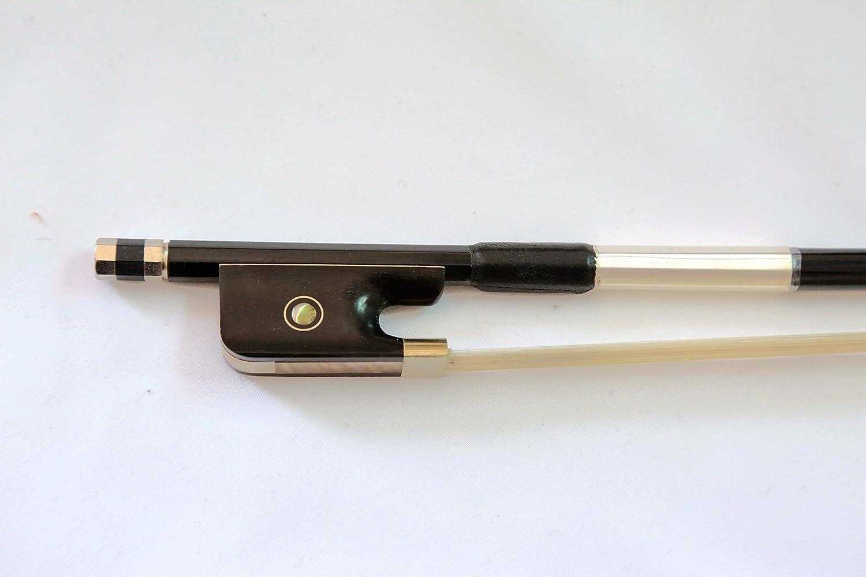 Vio Musique Top Alto en fibre de carbone, archet, EN Ébène, Naturel Cheveux Blancs Vio Music Vio-8559