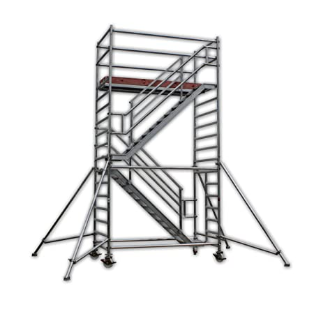 A U0026 M Stair Tower Working Height 6.3 M Speed Aluminium Portable/Exit Stairs,