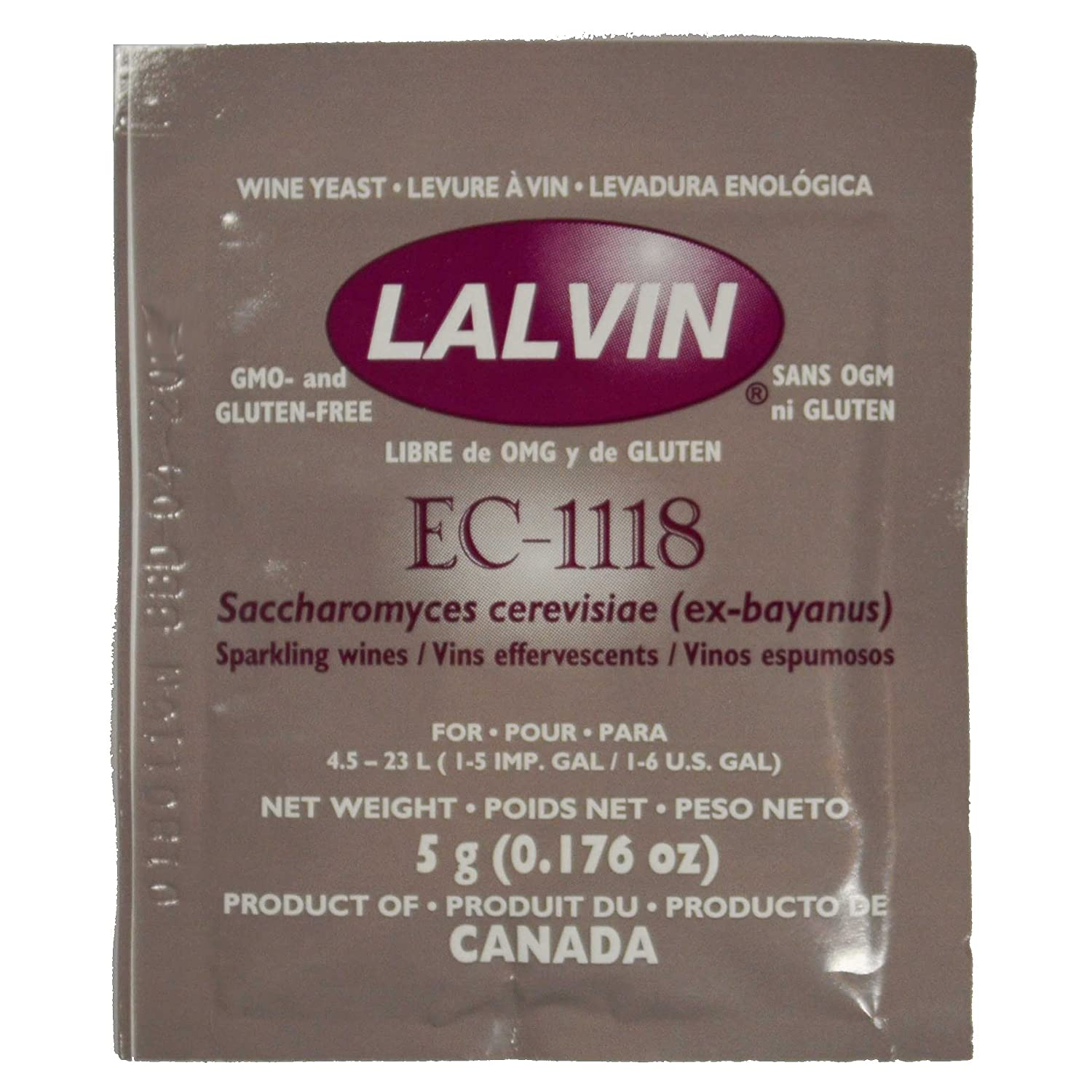 Amazon.com: Lalvin EC-1118 Yeast by Lallemand Inc: Industrial & Scientific