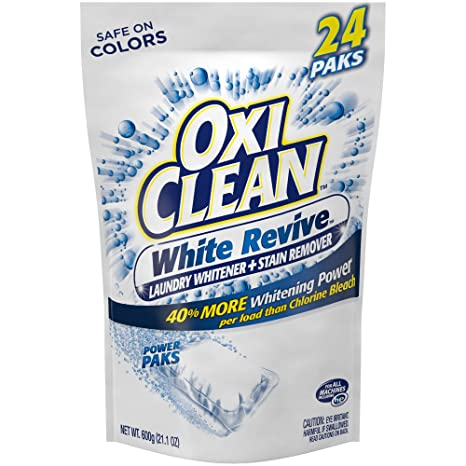Oxi Clean White Revive Laundry Whitener + Stain Remover Power Paks, 24 Count by Oxi Clean