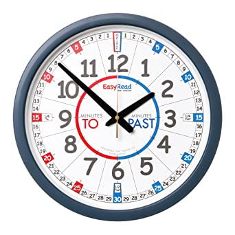 Reloj de pared para el aula EasyRead Time Teacher - en inglÃs