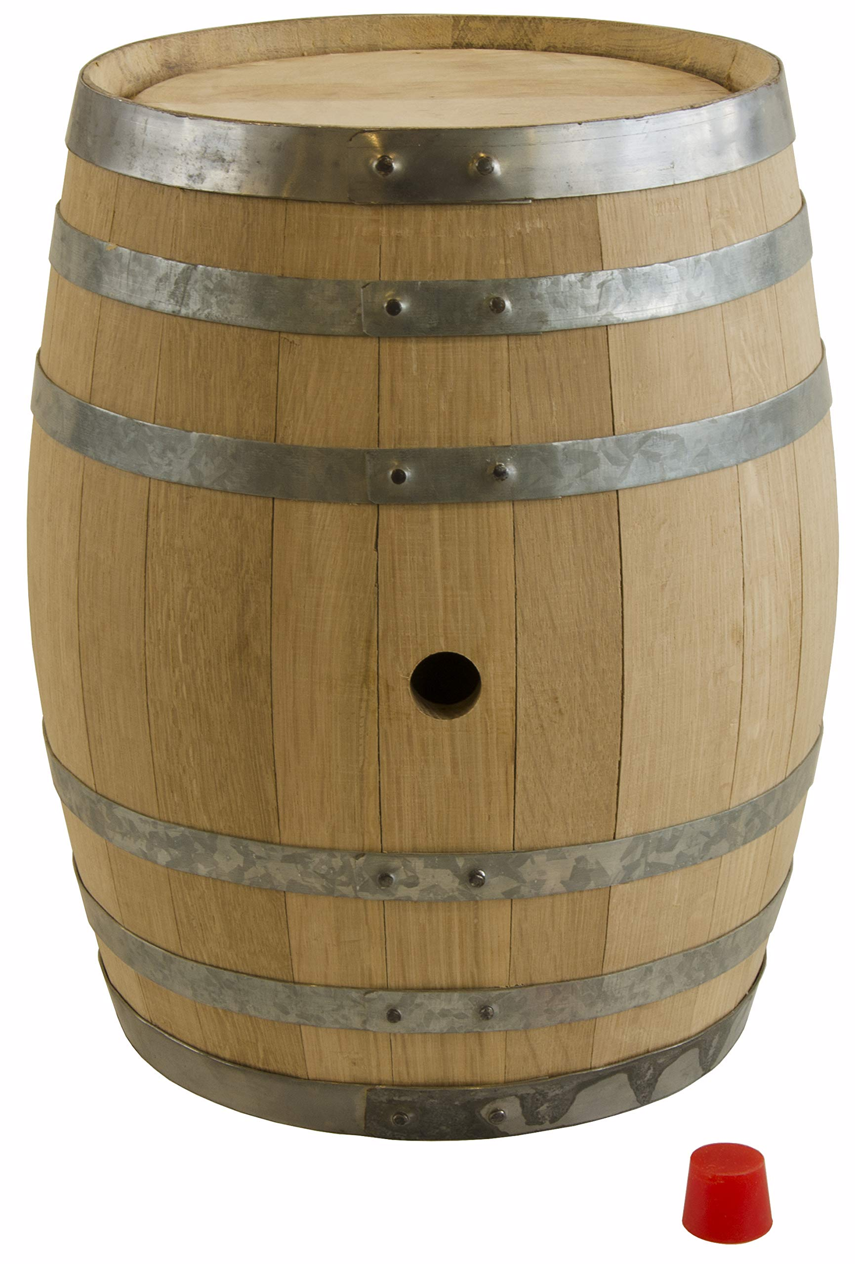North Mountain Supply Unused American Oak Barrel 5 Gallon Medium Char - with Silicone Bung by North Mountain Supply