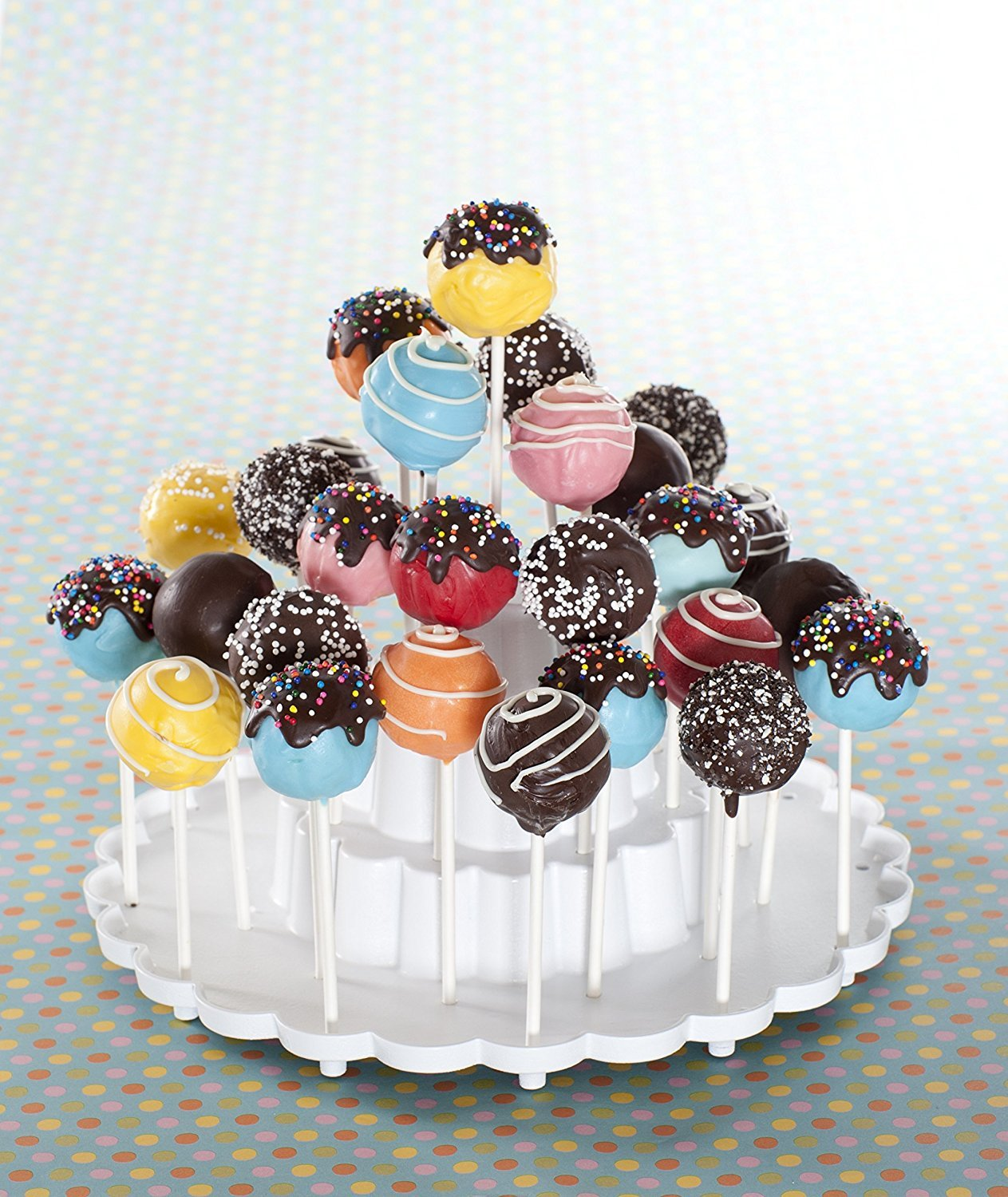 White Tiered Cake Pop Display Stand 2-Pack Limited Edition