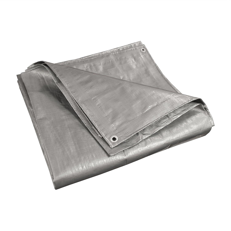 ALEKO TR10X18SL Multi-Purpose Polyethylene Plastic Tarp Waterproof for Camping Automotive Construction 10 x 18 Feet Silver