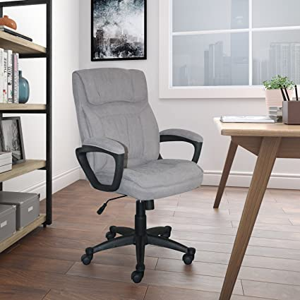 N Serta CHR200116 Style Hannah Office Chair Comfort Light Gray