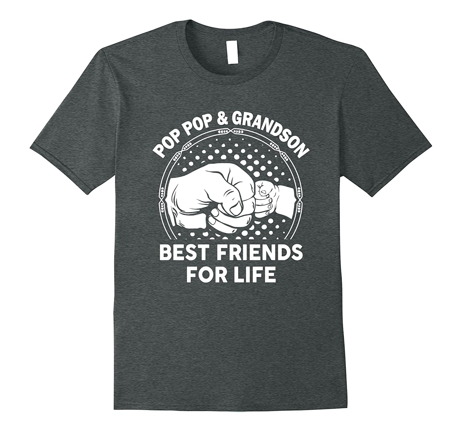 Pop Pop And Grandson Best Friends For Life funny tshirt-Teevkd