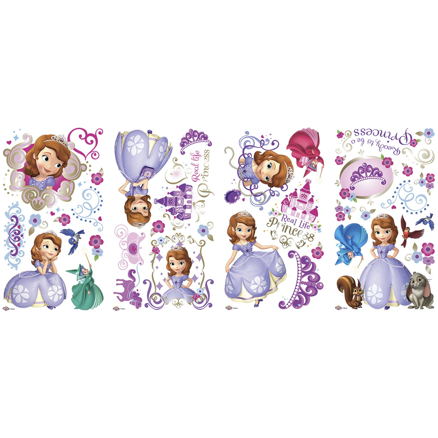 RoomMates RMK2294SCS Sofia The First Peel and Stick Wall Decals ...