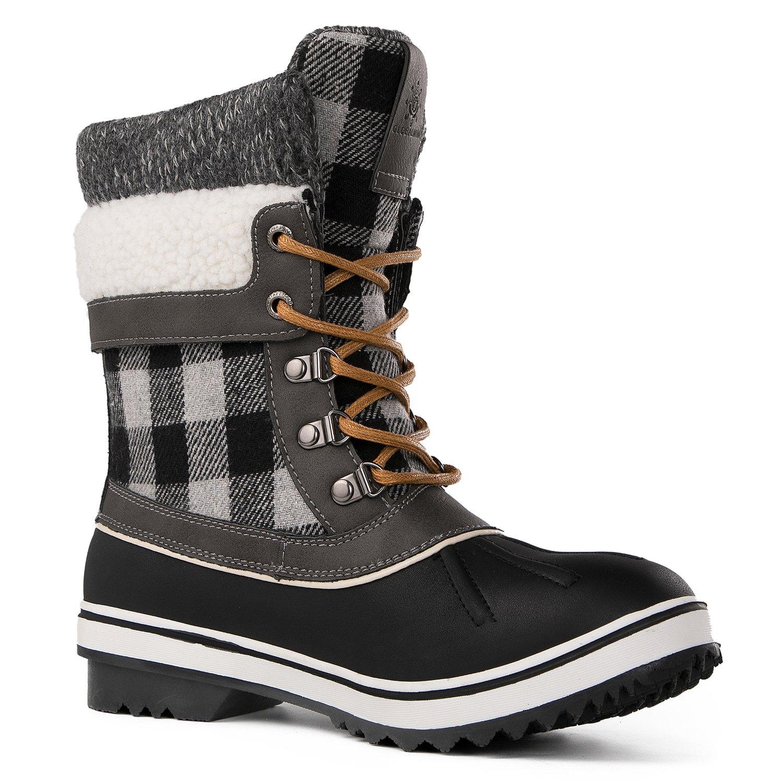 Globalwin Women's Waterproof Winter Snow Boots (8.5 D(M) US Women's, Black/Grey1738) by Global Win (Image #3)