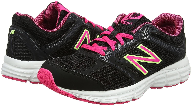 New Balance Women's 460v2 Cushioning B01NGZQKHL 12 D US|Black/Pink