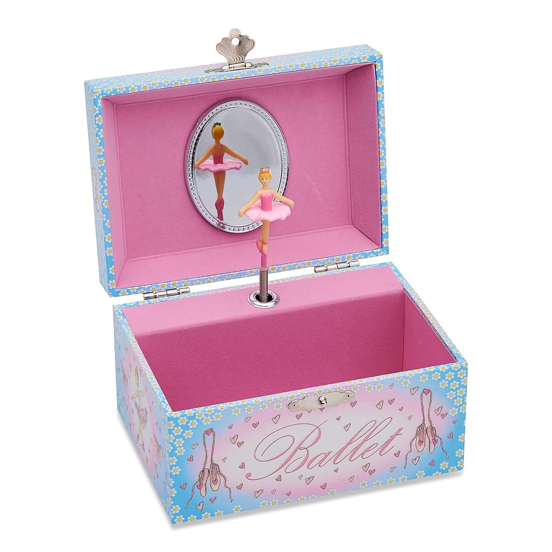 Caja de Música celeste y rosa con bailarina - Joyero Musical para niña - Lucy Locket: Amazon.es: Juguetes y juegos