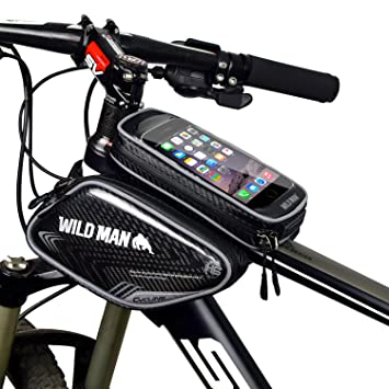 wildman waterproof road bike bag bike pannier pouch with touch screencycling bicycle bike frame