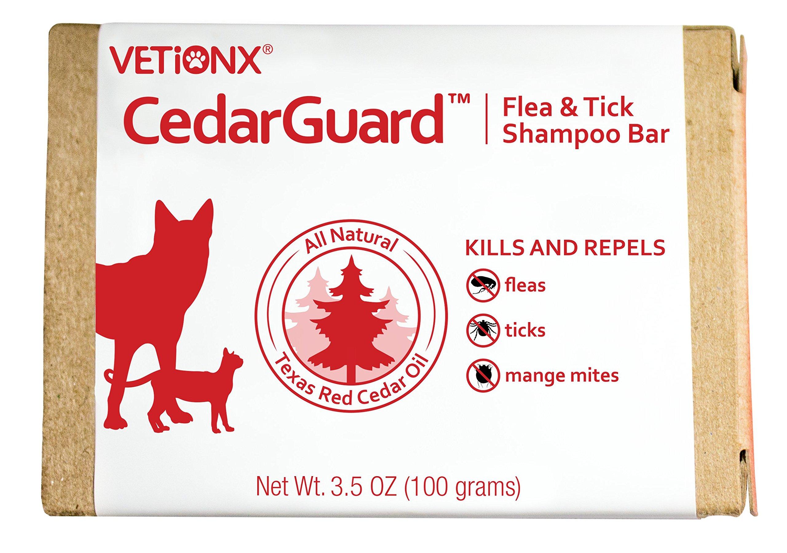 VETiONX CedarGuard Flea & Tick Shampoo Bar