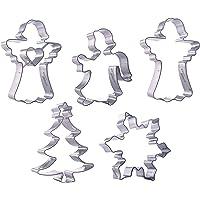 Haus Living Christmas Cookie Cutters - Angel Christmas Tree Snowflake Steinless Steel