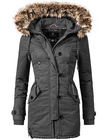 Manteau Avec Un Navahoo Pauline Femme Long Matelassé D'hiver Pour HYI29WED